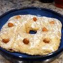Fractal almond bread in memory of Benoit Mandelbrot