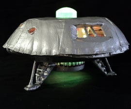 Paper Plate Papercraft Spacecraft Craft