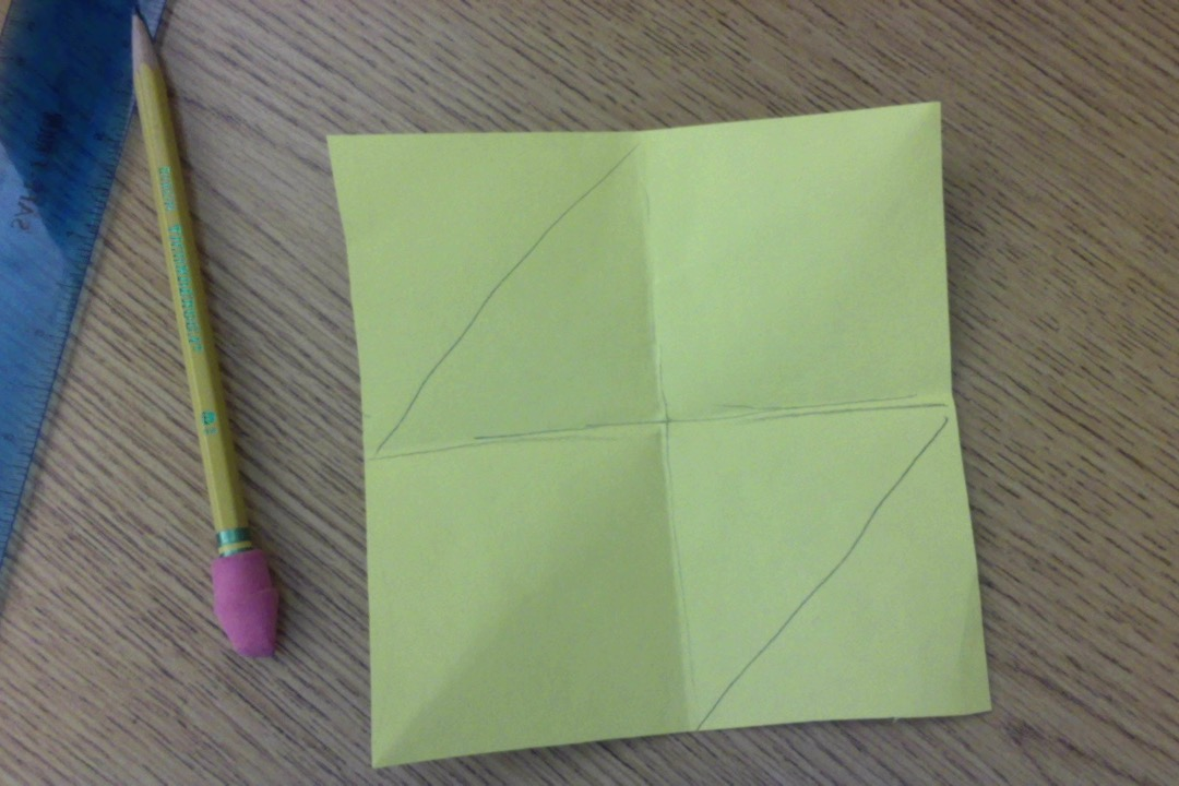 Picture of  Make 4 Squares and Trace a Fox Shape.