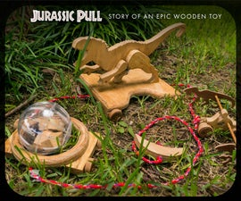 Jurassic Wooden Pull Toy