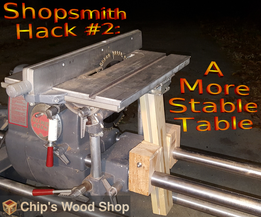Picture of Shopsmith Hack #2: a More Stable Table