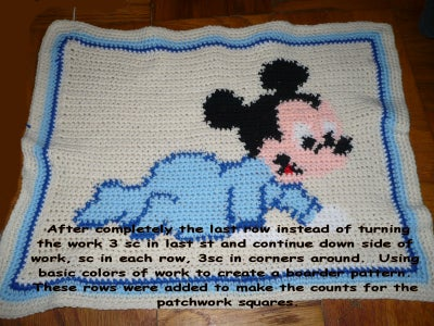 Lion Brand Contest - Baby Mickey Blanket