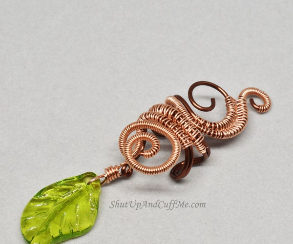 Swirly Woven Wire Wrapped Ear Cuff
