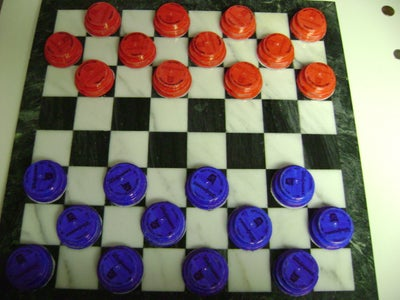 Checkers From Bottle Lids