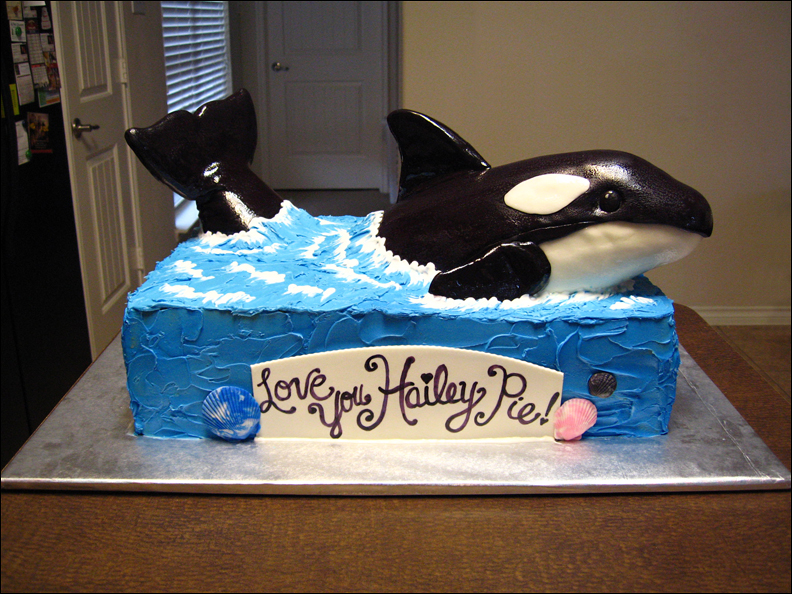 Picture of Killer Whale (Orca) Cake