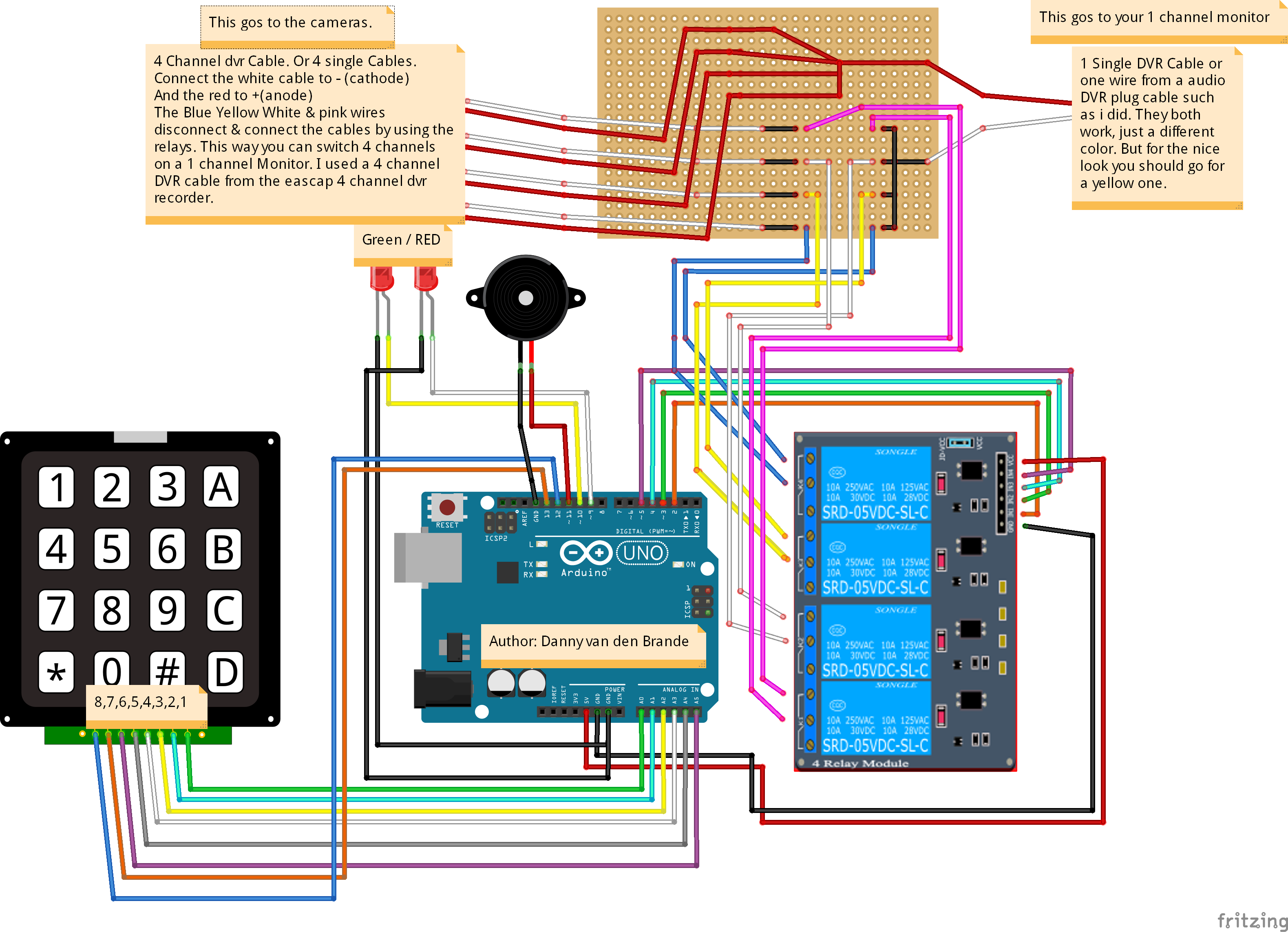 Picture of Schematic, Code & Parts List