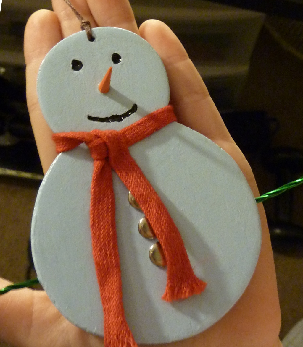 Picture of How to Make a Snowman Christmas Ornament