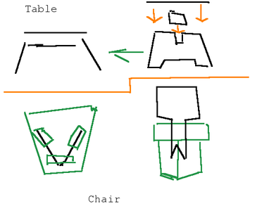 One More Table and Chair.