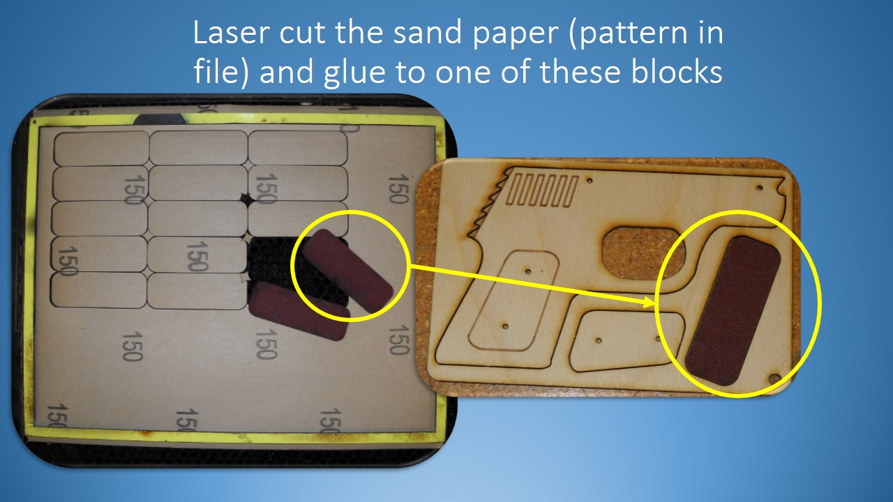 Picture of Cut the Sandpaper and Glue to the Panel