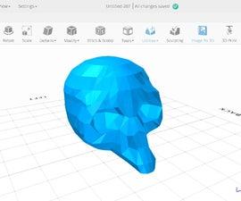 Skull Model (Headphones Holder) in SelfCAD