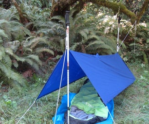 Emergency Shelters From a Poncho & Trekking Poles