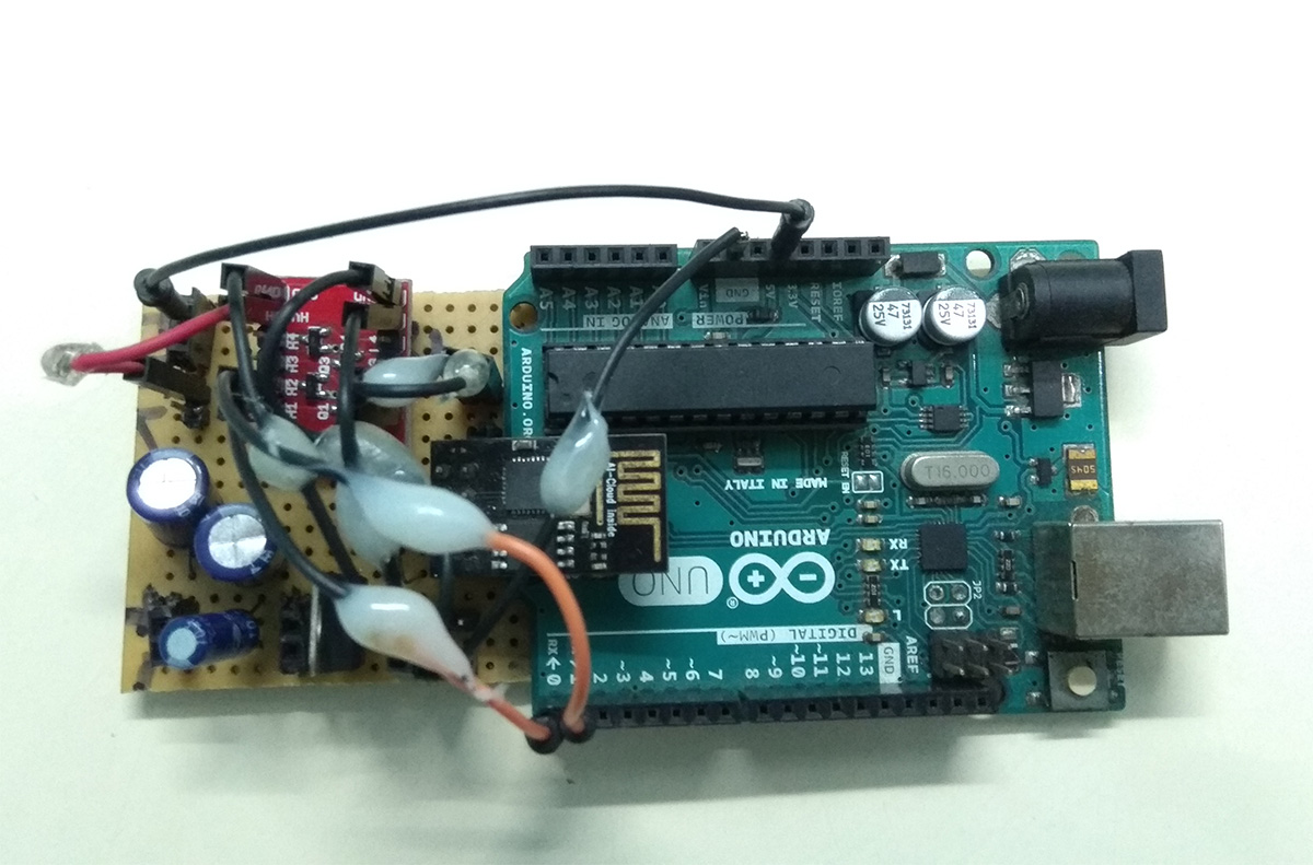 Picture of Assembling Arduino and ESP8266 Modules Inside the Container