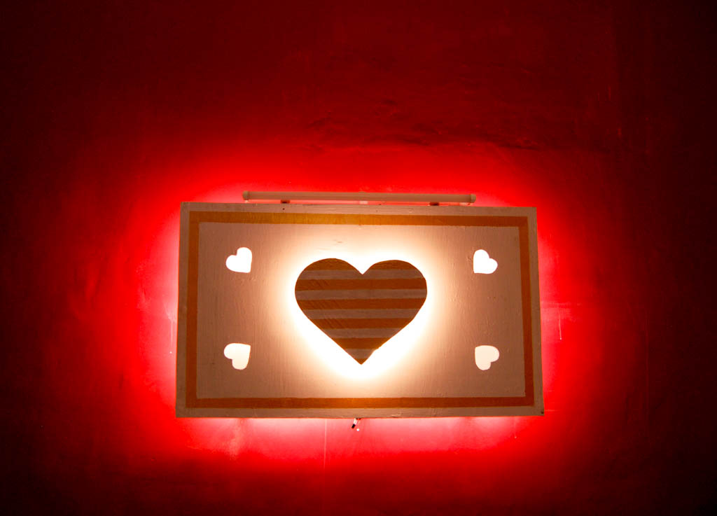 Picture of Heart Shaped Remote Controlled Back-lit Wall Decor