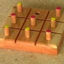 Tic Tac Toe - Cherry Wood