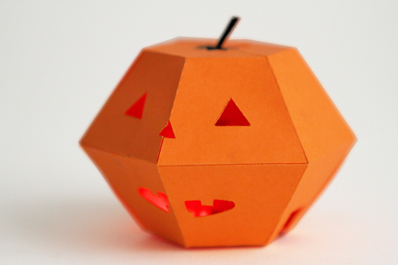 Picture of Halloween Blinking Paper Jack'o'Lantern
