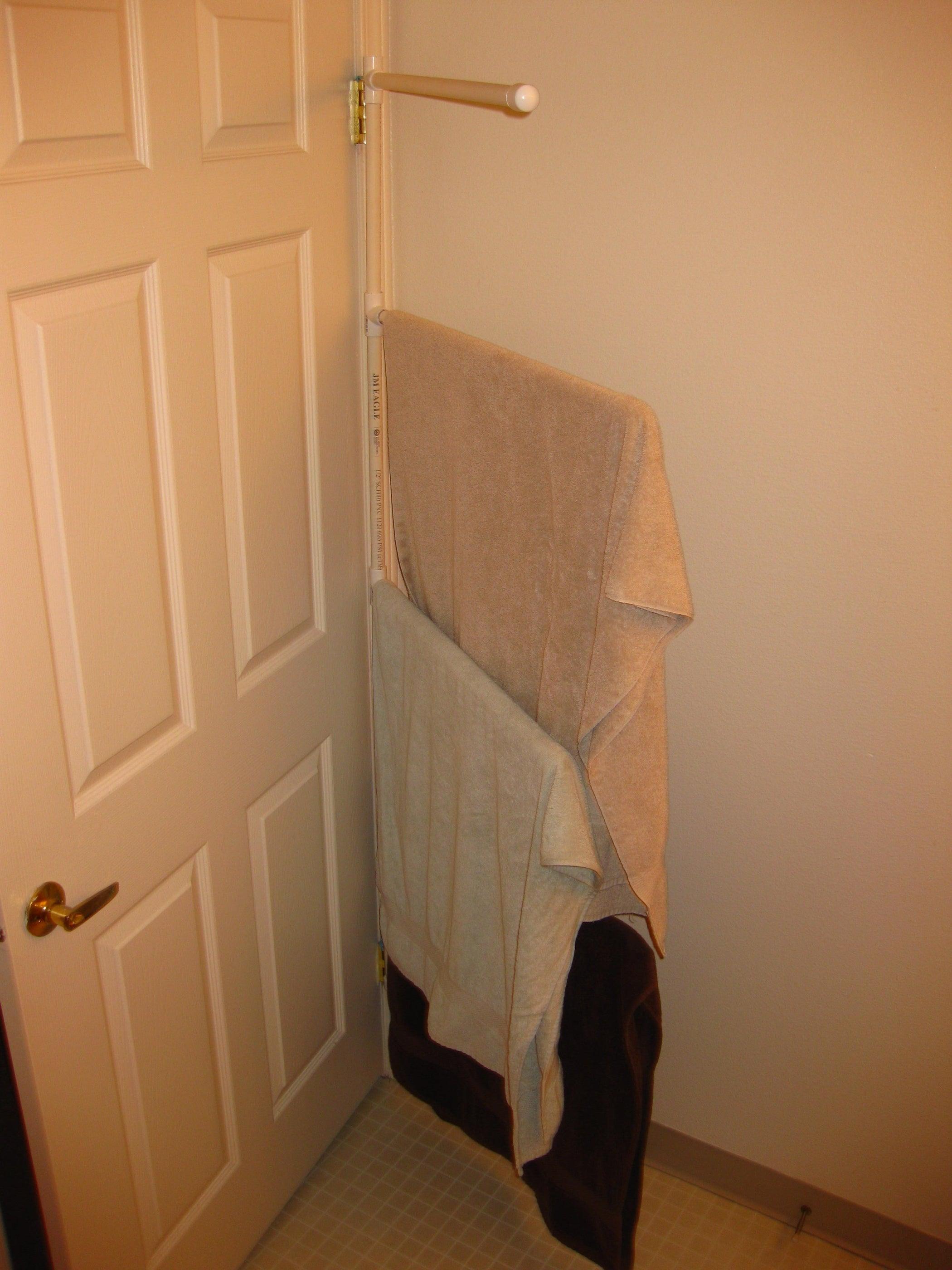 How To Make A Pvc Towel Rack