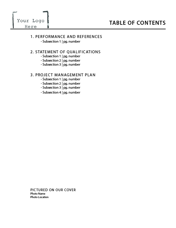 Picture of Table of Contents