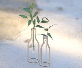 Wooden Silhouette Test Tube Vases