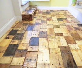 Creating a DIY Pallet Wood Floor with free wood