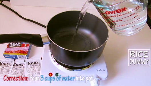Step 3: Make Gummy Liquid