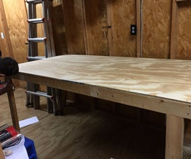 Folding Up Flat Workbench / Shop Table