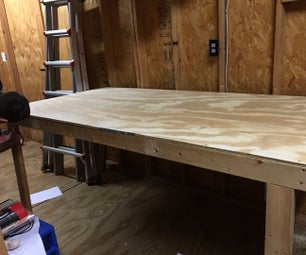 Folding Up Flat Workbench / Shop Table
