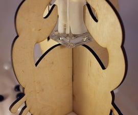 Laser Cut Table Centerpiece - Crab Candleholder