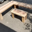 Wooden Benches and Table