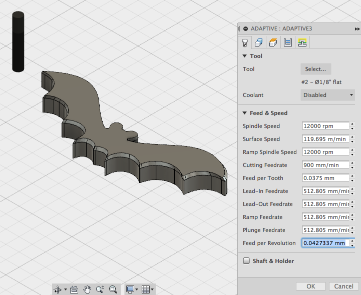 Picture of Create the Roughing Toolpath