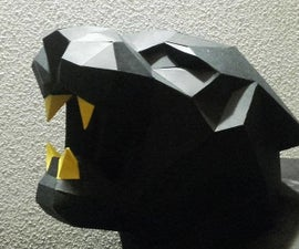 Faceted Jungle Panther Trophy