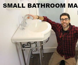 Small Bathroom Makeovers: Pedestal Sink Installation (Step-by-Step)