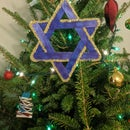 Star of David ornament for Christmas or Hanukkah
