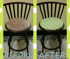 Chair Upholstery 101 / Chair Makeover: HGTV Home Citron Fabric