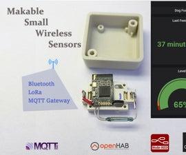 LoRa-Tooth: Small Wireless Sensors