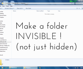 How to make a folder INVISIBLE