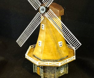 Building a 3D Printed Model of a Dutch Windmill (in 1:100 or 1:160 Scale)