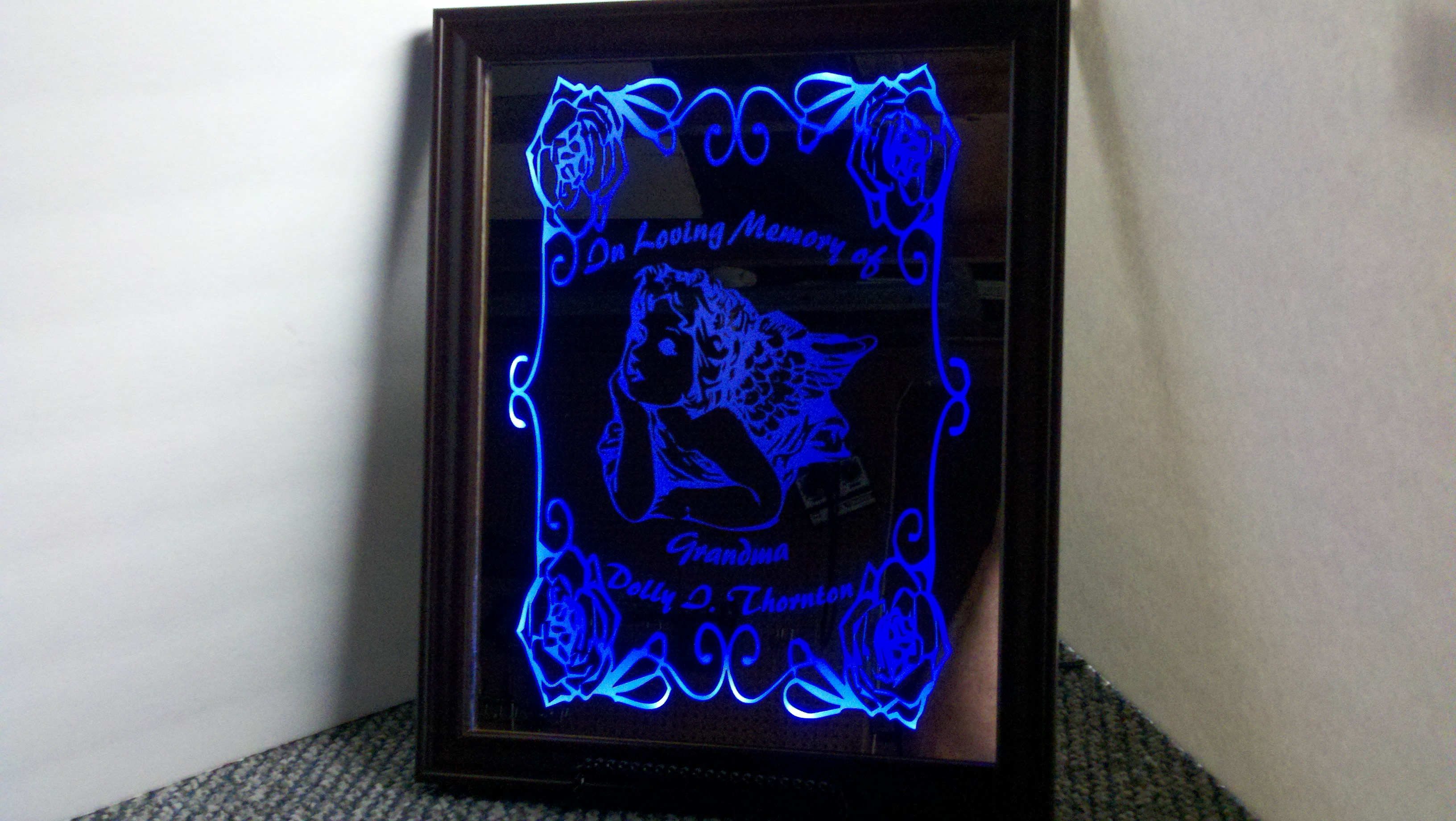 Picture of L.E.D. Backlit Mirror Memorial