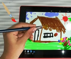 How to Paint Useing Ordinary Paint Brush and Water to Draw on Tablet or Mobile Phone