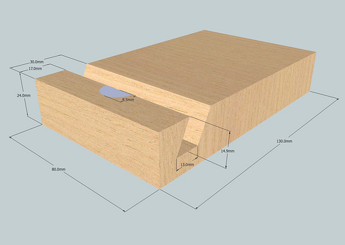 Picture of Make a 130 X 80 X 24 Mm Wooden Block