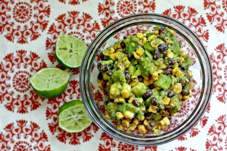 Roasted Corn and Black Bean Guacamole