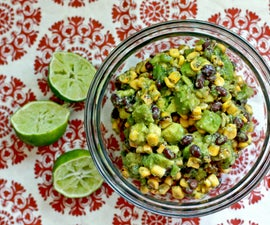 Roasted Corn and Black Bean Guacamole