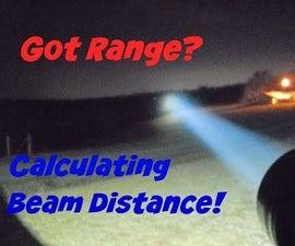 Measureing Lux, Flashlight Beam Distance, Throw, Range, Yards, Meters