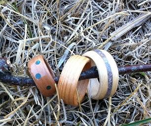 Bent Wood Rings