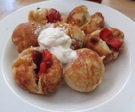 Danish Sphere Pancakes : Aebleskivers