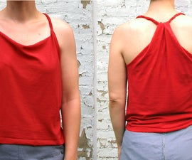 Braided Racerback Tank From a Tshirt