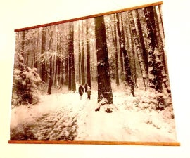 Wooden Poster Rails