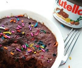 2- Minute Confetti Nutella Brownie