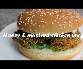 Honey & Mustard Chicken Burger Recipe