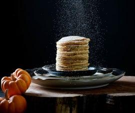 Roasted Coconut Flavor Pumpkin Pancake (and homemade pumpkin puree!)