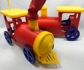 Balloon Powered Single Cylinder Air Engine Toy Train